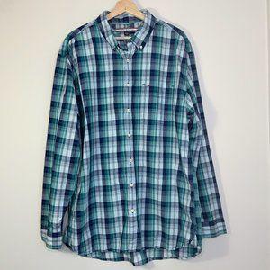 Tommy Hilfiger Blue & Green Button Down LS Shirt